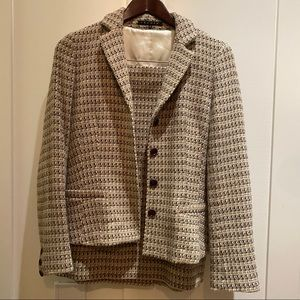 Theory Tweed Suit Size 8